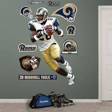 Fathead St Louis Rams Marshall Faulk Wall Decal Wall Sticker Outlet St Louis Rams Wall Decals Wall Stickers