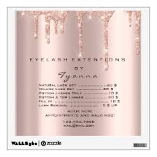 Rose Gold Wall Decals Stickers Zazzle