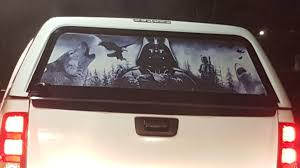 This Star Wars Northern Scenery Shark Decal On A Truck Funny