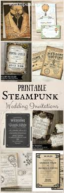 Printable Steampunk Wedding Invitations Invitaciones De Boda