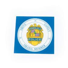 Hpd Ohana Inside Window Decal Honolulu Police Relief Association