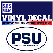 Penn State Oval Psu Decal Available In Navy Or White