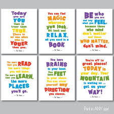 Pin By Rick Quarles On All Things Baby In 2020 Kids Room Poster Kids Room Quotes Dr Seuss Wall Art