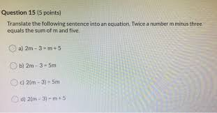 solved question 15 5 points