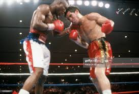 Julio Cesar Chavez and Meldrick Taylor fight for the WBC and IBF... News  Photo - Getty Images