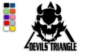 Vinyl Die Cut Devils Triangle