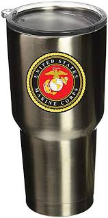 Amazon Com Boldergraphx 6002 Usmc Logo 2 5 Vinyl Sticker Decal For Yeti Mug Cup Rtic Sic Cup Thermos Cup Or Laptop Cell Phone Wrap Or Hardhat Automotive