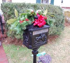 Decorating Mailboxes Fences And Porches For Christmas Between Naps On The Porch