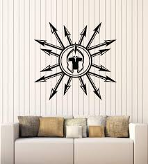 Amazon Com Large Vinyl Wall Decal Medieval Spears Helmet Weapon Military Decor Stickers Mural G3196 Black Home Kitchen