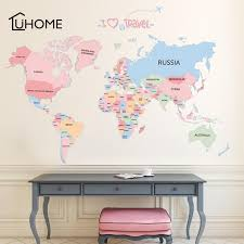 Creative My World Map Wall Decals For Kids Rooms Office Home Decorations Pvc Wall Stickers Diy Mural Art Posters90x130cm Sticker Wall Decal Sticker Wall Decals From Supper007 2 54 Dhgate Com