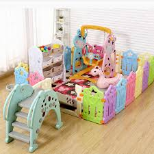 Portable Baby Playpen Foldable Indoor Kids Fence Plastic Ball Pool Children S Playpen Safety Baby Bed Fence Security Barrier Baby Playpens Aliexpress
