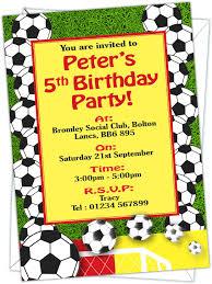 Invitaciones Para Fiesta De Cumpleanos Diseno De Balon De Futbol