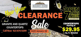 new year clearance granite