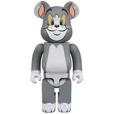 preorder medicom tom and jerry tom 1000% bearbrick figure gray