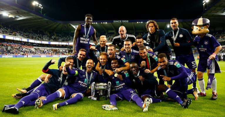 "Image result for Anderlecht Belgian league trophy"""