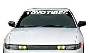 For For Toyo Tires Vinyl Windshield Banner Decal Sticker 40 X4 Car Stickers Aliexpress