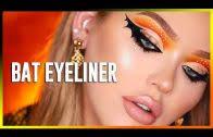 bat eyeliner for halloween beautyvlogs