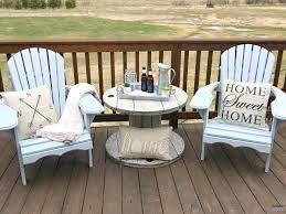 diy farmhouse style wood spool table