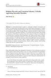 PDF) Religious Diversity and Conceptual Schemes: Critically Appraising  Internalist Pluralism