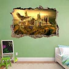 Hogwarts Harry Potter Smashed Wall Decal Removable Wall Sticker Art Mural H326 Ebay