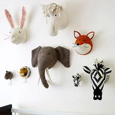 Baby Kids Room Decoration 3d Animal Heads Wall Hanging Decor For Children Room Nursery Room Decoration Soft Install Game House Plush Wall Stuff Aliexpress