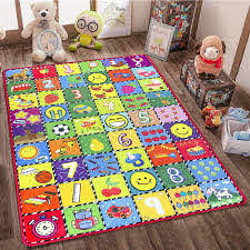Amazon Com Teytoy Baby Rug For Crawling How Many Are There Kids Area Rugs Educational Play Mat For Room Decor Count Game Learn Animals Expressions Family Beach Carpet Outdoor Indoor Gift 3 4