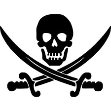 Jolly Roger Skull Vinyl Sticker Decal Pirate Boat Flag Choose Size Color Ebay
