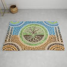 yggdrasil tree of life dot art 1 rug