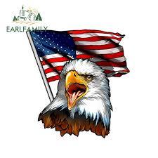 12cm X 11 5cm Eagle Usa American Flag Decal For Rv Trailer Vinyl Decal Sticker Car Styling Car Accessories Wish