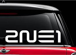 2ne1 Kpop Band White 6 Vinyl Decal Sticker For Car Automobile Window Wall Laptop Notebook Etc Any Smooth Surface Such As Windows Bumpers On Galleon Philippines