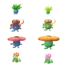 Oddish family shiny comparison. Expected to be released on October ...