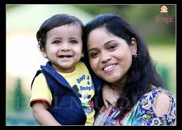 indian cute baby with indian mother jpg