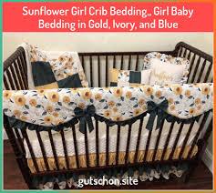 sunflower girl crib bedding girl baby