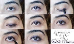 a no eyeshadow smokey eye tutorial