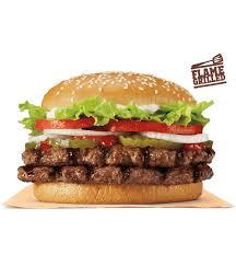 double whopper burger king