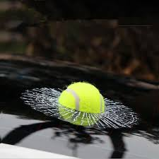 Funny Who Did It 3d Tennis Ball Broken Window Car Decal Vinyl Sticker Carsoda