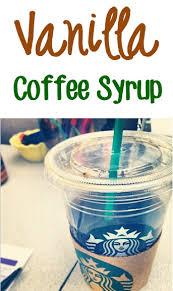 homemade vanilla coffee syrup recipe