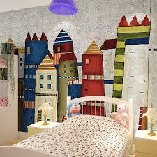 Buy Large Children 39 S Room Mural Wallpaper Background Wallpaper European Cartoon Kids Room Wallpaper Mural Wall Covering Rainbow Castle In Cheap Price On M Alibaba Com