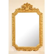 antique french giltwood framed mirror