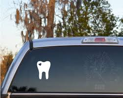 Tooth Decal Tooth With Heart Self Adhesive Vinyl Decal Sticker Dentist Dental Assistant Dental Hygienist Adhesive Vinyl Vinyl Decal Stickers Vinyl Decals