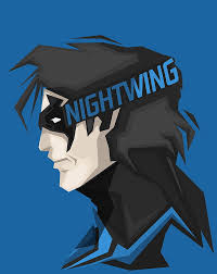 nightwing digital wallpaper dc ics