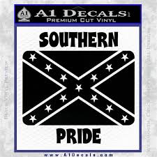 Southern Pride Rebel Flag Vinyl Decal Sticker A1 Decals