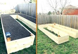 wood vegetable garden box