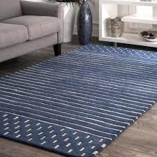 Nuloom Marlowe Stripes Navy 8 Ft X 10 Ft Area Rug Mtnr01a 76096 The Home Depot