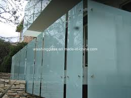 china balcony railing glass obscure