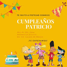 Invitacion De Cumpleanos Digital De Hey Arnold Para Ninos