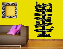 Amazon Com Adecalsnew Storybook Road Pointer Sign Vinyl Wall Decal Bedroom Decor Mural Sticker Made In Usa Fast Delivery Home Kitchen