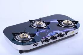 3 burner stove glass top gas stove oval