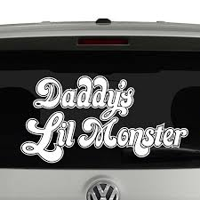 Daddy S Lil Monster Harley Quinn Inspired Vinyl Decal Sticker