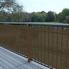 E K Sunrise 3 X 50 Privacy Fence Screen Mesh For Balcony Porch Deck Outdoor Protection Fencing Shield Net Patio Pool Backyard Rails Balcony Brown 200gsm Customized Amazon In Garden Outdoors